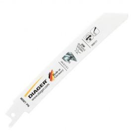 5 lames de scie sabre BIM pas de 1,4 x Lu. 130 mm métal/inox/cuivre POWER CURVE - L203ML1505 - Diager