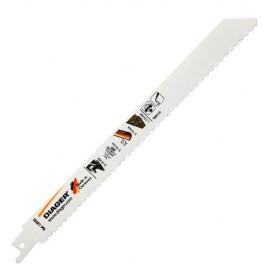 5 lames de scie sabre BIM pas variable x Lu. 130 mm spécial bois avec clous - L203SL1505 - Diager