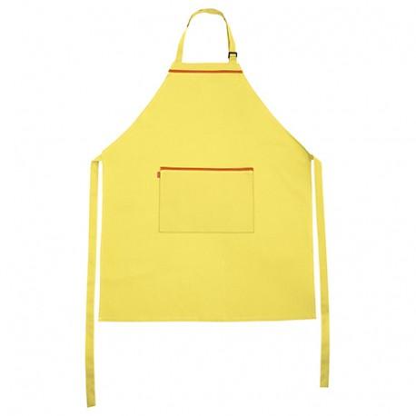 Tablier de service bavette à poche 65% polyester 35% coton 190 gr/m2 - Jaune Clair/Orange - P404203 - Velilla