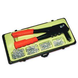 Pince à rivet D. 2.4, 3.2, 4.0 et 4.8 mm + assortiment de 100 rivets en coffret - Diamwood