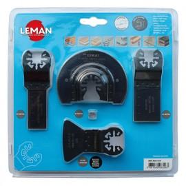 Coffret de 4 accessoires special sol et montage pour outil oscillant - 4501.04 - Leman