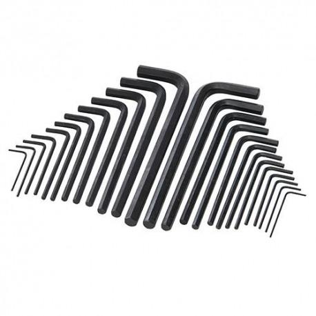 25 clés 6 pans série longue - HK25L - Silverline
