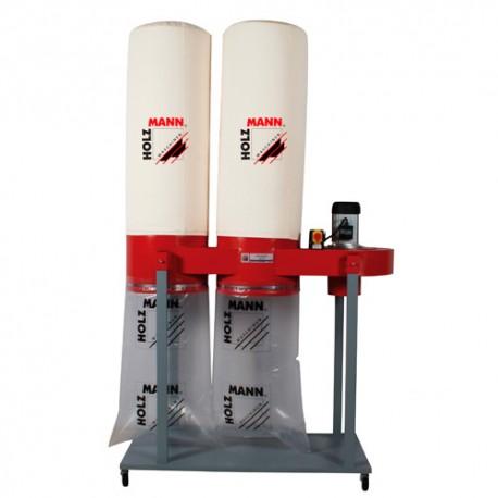 Aspirateur à copeaux de bois 2 x 180 L 400 V - 2200 W ABS5000 - Holzmann