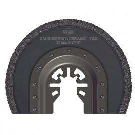 Lame de scie segment à concretion carbure HM pour outil oscillant D. 87 mm pour céramic et tile - 4017.01 - Leman