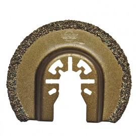 Lame de scie segment fin à concretion carbure HM pour outil oscillant D. 65 mm pour carrelage et béton - 4016.01 - Leman