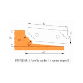 Jeu de 2 plaquettes profil N°1 APF160F1 pour APF160 - Holzmann