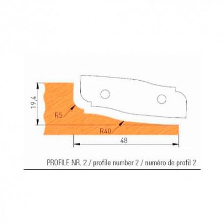 Jeu de 2 plaquettes profil N°2 APF160F2 pour APF160 - Holzmann