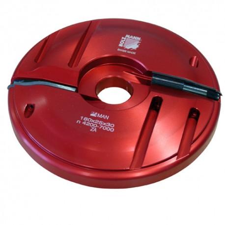 Porte-outil plate bande D. 180 x 25 x Al. 30 mm Z2 APF180 livré avec profil F0 - Holzmann