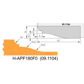 Jeu de 2 plaquettes profil N°0 APF180F0 pour APF180 - Holzmann