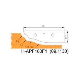 Jeu de 2 plaquettes profil N°1 APF180F1 pour APF180 - Holzmann