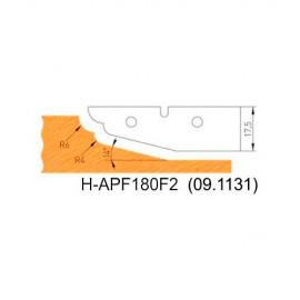 Jeu de 2 plaquettes profil N°2 APF180F2 pour APF180 - Holzmann