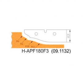 Jeu de 2 plaquettes profil N°3 APF180F3 pour APF180 - Holzmann