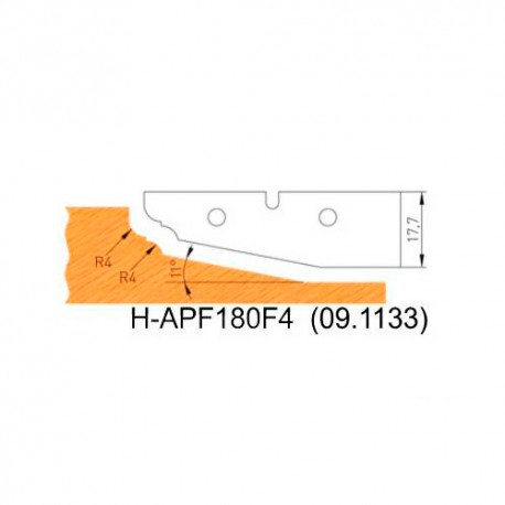 Jeu de 2 plaquettes profil N°4 APF180F4 pour APF180 - Holzmann