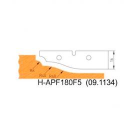 Jeu de 2 plaquettes profil N°5 APF180F5 pour APF180 - Holzmann