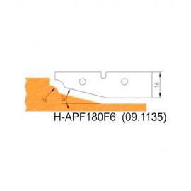 Jeu de 2 plaquettes profil N°6 APF180F6 pour APF180 - Holzmann