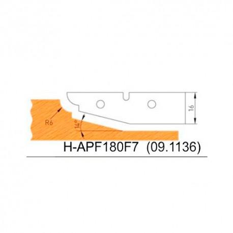 Jeu de 2 plaquettes profil N°7 APF180F7 pour APF180 - Holzmann