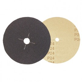 Lot de 25 disques papier parquet carbure silicium D. 150 x Al. 12 mm Gr. 80 - 4815080 - Leman