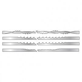 Lot de 3 lames Lu. 130 mm Largeur 1,05 mm Ep. spirale 40 Tpi pour bois, plastique, os, corne25 mm - 2849.12 - Leman