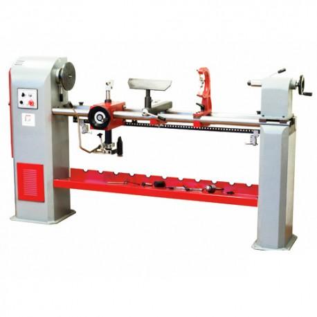 Tour à bois avec variteur de vitesse + copieur L. 1300 mm 230 V - 1100 W DBK1300F-230V - Holzmann