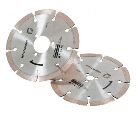 Jeu de 2 disques diamant D. 125 mm DBS125DIAM pour DBS125 - Holzmann
