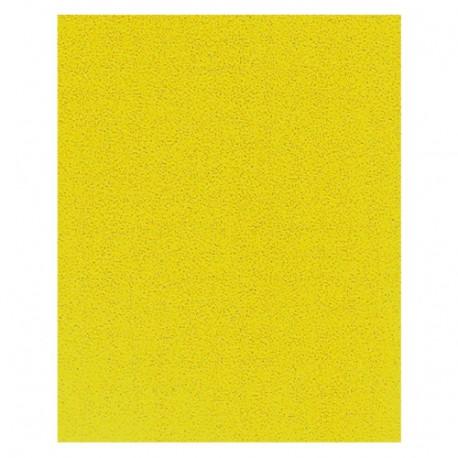 Lot de 50 feuilles papier corindon jaune 230 x 280 mm Gr. 40 pour bois et métal - 9723240 - Leman
