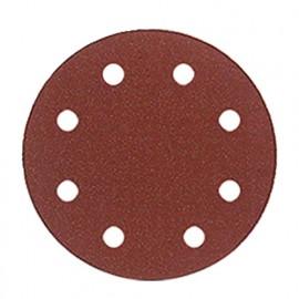 Lot de 6 disques velcro corindon D. 125 mm Gr. 40 8 trous pour bois et métal - 125.08.01 - Leman