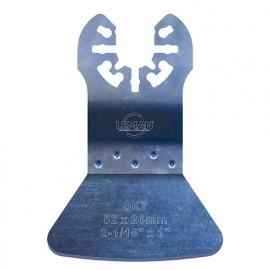 Spatule rigide - acier carbone pour outil oscillant L. 52 mm pour carrelage, béton et moquette - 4011.01 - Leman