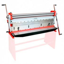 Combinée rouleuse, plieuse et cisaille manuelle pour feuille de tôle 1320 x 1 mm - UBM 1400 HOLZMANN