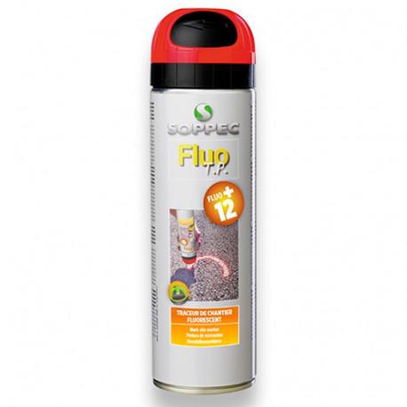 Traceur de chantier fluorescent FLUO TP 500 ml de couleur Rouge - 141513O - Soppec