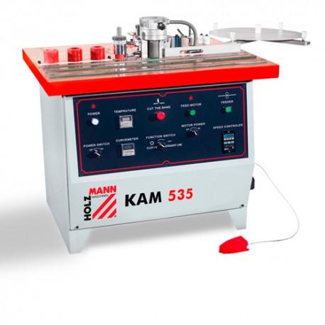 Plaqueuse de chant semi-automatique 2 opérations 400 V - 2200 W KAM535 - Holzmann