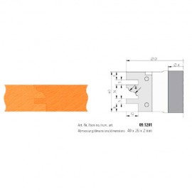 Jeu de 2 plaquettes profil N°1 KPF120Z2F1 pour KPF120 - Holzmann