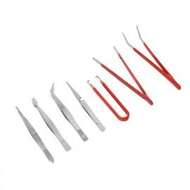 7 mini-pinces, brucelles - 209144 - Silverline