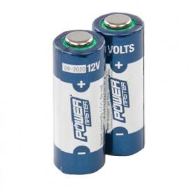 2 piles alcalines 12 V Super A23 - 306107 - Powermaster