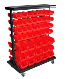 Etagère de rangement avec 94 bacs plastique KSR94D - Holzmann