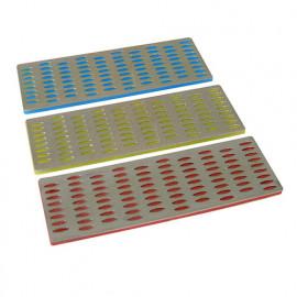 3 cartes d'affûtage diamant 50 x 150 mm - 349756 - Silverline