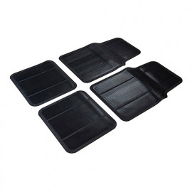 4 tapis de protection PVC voiture - 426484 - Silverline