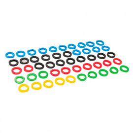 50 couvre-clés de couleurs assorties - 431620 - Silverline