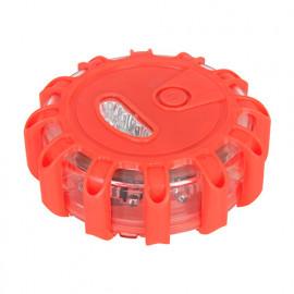 Gyrophare rouge 15 LED à piles avec aimant - 468541 - Silverline