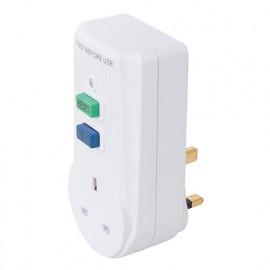 Disjoncteur différentiel actif avec prise GB 13 A 230 V pour le Royaume Uni - 488700 - Powermaster