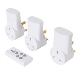 3 prises électriques télécommandées 230 V 10 A - 230 V pour le Royaume Uni - 550077 - Powermaster
