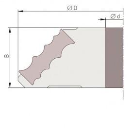 Jeu de 2 plaquettes multi-arrondis R. 4, 6, 8, et 10 mm PAF180R46810 pour PAF180 - Holzmann
