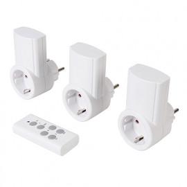 3 prises électriques télécommandées 230 V 13 A - 230 V (UE) - 708429 - Powermaster