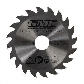 Lame de scie circulaire TCT D. 110 x AL. 22,23 mm x Z 20 dents pour GTS1500 - 776182 - GMC