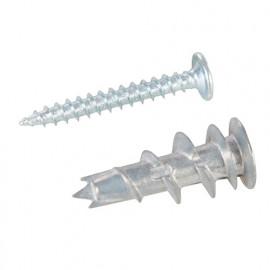 100 chevilles rapide matériaux creux Zamak (12 x 32 mm) avec vis 4,2 x 32 mm - 825735 - Fixman