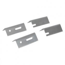 4 fixations de rechange 76 mm pour radiateurs - 856678 - Dickie Dyer