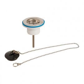 Bonde d'évier avec bouchon D. 32 mm et chaîne - 773578 - Plumbob