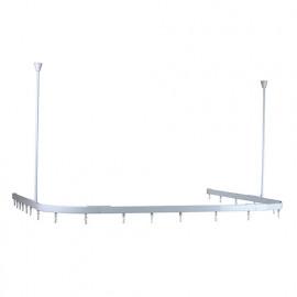 Rail modulable blanc pour rideau de douche - 803109 - Plumbob
