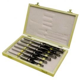 Coffret de 6 mèches et bédanes carrés D. 6, 8, 10, 12 ,14 et 16 mm Q.19 mm STM26B - Holzmann