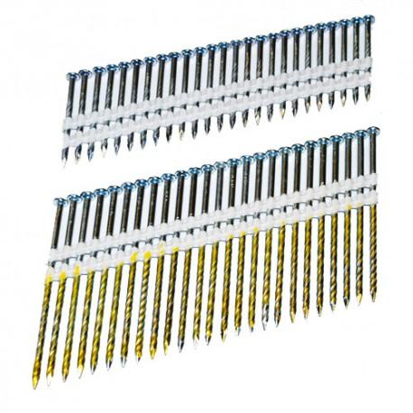 4000 clous en bande PVC 21° de 50 x 2, 87 mm T90N50 pour T90 - Holzmann
