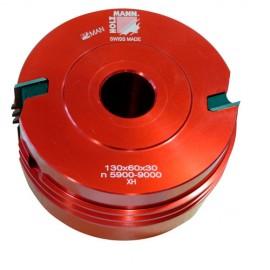 Porte-outil auto-serrant D. 130 x 60 x Al. 30 mm Z2 TVF130 - Holzmann